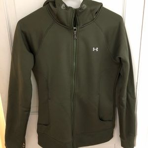 Under Armour Lined Zip Up Hooded Sweatshirt